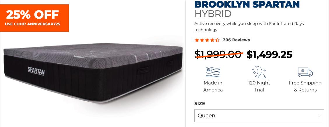 Brooklyn Bedding Spartan hybrid mattress